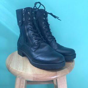 G by guess combat boots size 9